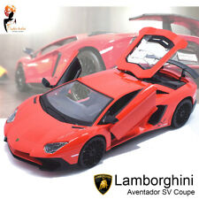 1 24 Lamborghini Aventador SV Coupe Burago Diecast Metal Model Car Boys Gift