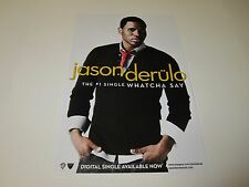 Jason Derulo Whatcha Say The # 1 Single Poster 2009 Promotional 11X17 NEW