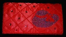 NEW Red with Purple Fashion Hat Evening Clutch Purse / Bag for Hat Lady Society
