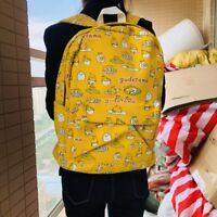 "Gudetama yellow egg 15"" backpack travel tote laptop school bags anime new"
