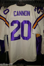 BILLY CANNON #20 AUTOGRAPHED LSU TIGERS SAND-KNIT TYPE ROAD JERSEY SIZE 52-54