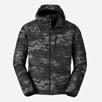 Eddie Bauer MicroTherm 2.0 Hooded 800 Fill Down Puffer Jacket Camo NWOT Men's S