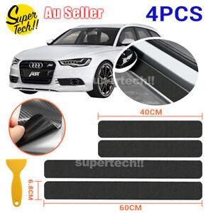 4D Carbon Fiber Car Sticker Door Sill Side Scuff Plate Anti Scratch Protector
