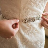 Bridal Gown Dress Crystal Embellishment Trim Sash Belt