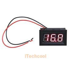 """DC 3.2-30V Voltmeter 0.56"""" LCD Red LED Digital Panel Volt Meter Voltage Two Wire"""