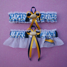 San Diego Chargers Fabric Wedding Garter Set Football Charm Sport