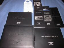 2008 2009 BENTLEY CONTINENTAL FLYING SPUR OWNERS MANUAL OWNER'S NEW SET
