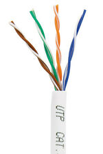 1000 ft 1000ft Cat5e Cat5 4Pair Utp Ethernet Network Cable White 24Awg