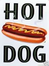 Placa De Metal Retro Divertida: Hot Dog Ad/cartel