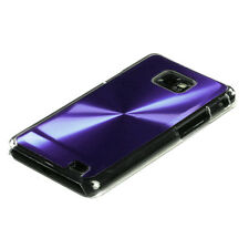 AT&T SAMSUNG GALAXY S2 II BRUSHED ALUMINUM PLATE ACRYLIC CASE PURPLE
