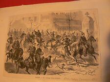 anc lithographie journal 1871 la commune paris cortege d'un delegue bd italiens