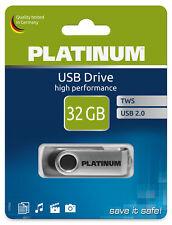 Platinum TWS High Performance USB-Stick 32 GB USB 2.0 Flash-Speicher Typ 177532