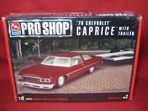 1976 Chevrolet Caprice with Trailer Pro Shop '76 AMT Ertl 1:25 Model Kit 30031
