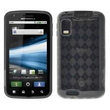 AMZER Smoke Grey Luxe Argyle TPU Soft Gel Skin Case For Motorola ATRIX 4G MB860
