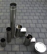Edelstahl Schornstein Kamin Sanierung Ofen Rauchrohr Abgasrohr EW 1.4404 - 0,6mm