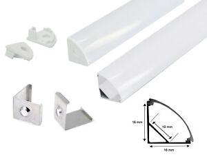 LED Aluprofil Aluminium Profile Alu Schiene Leiste Winkelprofil Eckprofil 1m