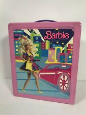 Vintage 1989 Mattel BARBIE Doll Vinyl Carrying Case/Closet Pink With Inserts