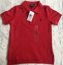 New Ralph Lauren Boys  Red Polo-shirt XL18-20Y
