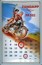 Tôle Bouclier Zündapp Vélomoteur passager moto magnétique calendrier Bouclier durée calendrier