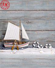 SEA marinaio barca legno BABY Sfondo Fondale Vinile Foto di scena 5X7FT 150X220CM