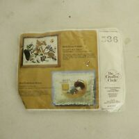 """Creative Circle """"FOREST FRIENDS""""  Crewel Embroidery Kit Unopened #536"""