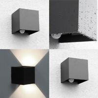 2 X LED Faretto da Muro Lampada Parete Esterno con Sensore Movimento per