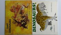 Dinosaurs!:A Drawing Book by Michael Emberley & Giant Dinosaurs by Erna Rowe PBs