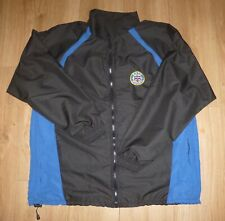BATH RUGBY NEW Showerproof Top-Embroidered-Black/Royal-Size LARGE-Full Zip-Lined