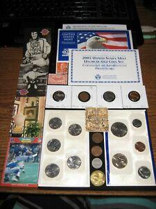 Junk Drawer Coin Lot ❤️2003 Mint Set Indian Cent Old Coins Golden Dollar ELVIS