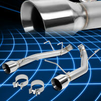 """3.5/"""" Stainless Steel Exhaust Tip 2.5/"""" ID 5.5/"""" Long for 2005-2010 Ford Mustang V6"""