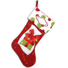 Red and Green Personalized Christmas Stocking