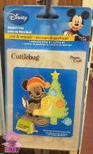 Cricut Cuttlebug Mickey Mouse Santa's List Combo Die A2 Embossing Folder 37-1733