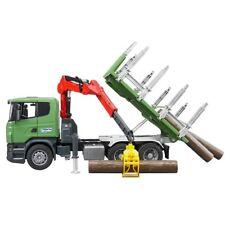 Bruder 03524 Camion trasporto legna gru benna prensile tronchi braccio scania