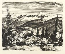 OTTO FISCHER - GEBIRGSLANDSCHAFT - Lithografie 1910-1919