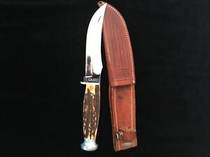 1940-65 Case XX Fixed Blade Hunting Knife Genuine Stag Vintage