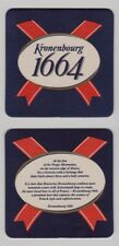 Brasseries Brewery Kronenbourg 1664 - Set of Two Beer Coasters Bar Pub Mats