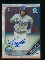 WANDER FRANCO AUTO 2019 1st Bowman Chrome Autograph Tampa Bay Rays Rookie RC