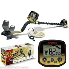 "Fisher New Gold Bug Pro Metal Detector 2 Coil Combo 5"" & 10"" Waterproof DD Coils"