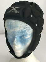 X Blades Pro Rugby Headguard Kids Scrum Cap Youth Head Protection Black NEW