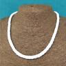 "White Round Hawaiian 12~20"" Chipped Puka Sea Shell Necklace Surfer Shell Choker"