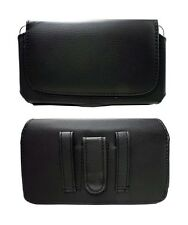 Black  Leather Case Clip Horizontal Pouch for Samsung Galaxy Note 2, 3, 4, 5