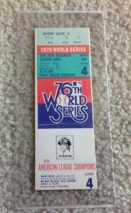 MLB Baseball 1979 Pirates vs Orioles World Series Game 4 Ticket Stub