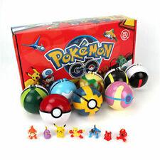 2.8'' 8Pcs Pokeball Ball set Pokemon Action Figures Christmas Toy  UK Seller