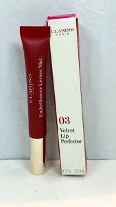 Clarins Paris Velvet Lip Perfector In Shade 03 Velvet Red .3 oz NIB