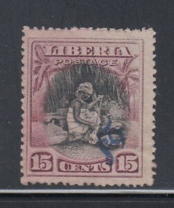 """Liberia # O63 MNG With INVERTED """"OS"""" Cotton Spinning"""