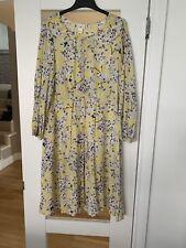 Anna Glover H&M Floral Moth Print Midi Dress Yellow Mix Uk12 Us8