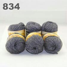 Sale LOT 6ballsx50gr NEW Chunky Hand-woven Colors Knitting Rainbow Wool Yarn 834