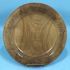 Vtg Swiss Black Forest Wood Carving Decorative PLATE DAILY BREAD French Brienz