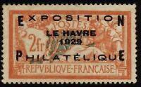 N°257A - EXPOSITION PHILATELIQUE DU HAVRE - Timbre de France - Charnière - 1929
