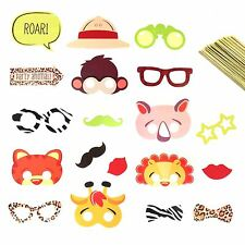 Zoo Safari Jungle Animal Childrens Kids Party Selfie Photo Props on a Stick Game